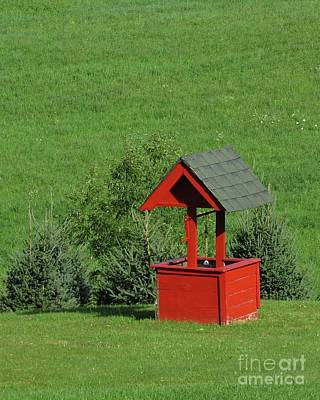Photograph - Red Well by Donna Cavanaugh