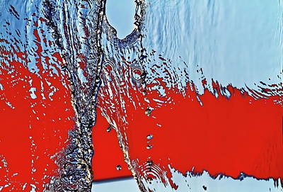 Photograph - Red Wet And Blue 2  by Bob Orsillo