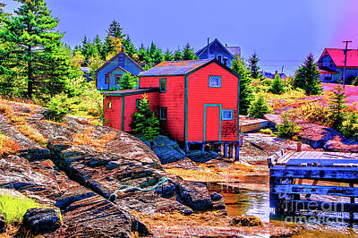 Photograph - Red Wharf by Rick Bragan