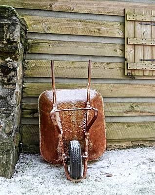 Photograph - Red Wheelbarrow by Susan Leggett