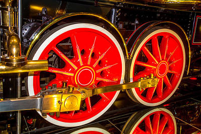 Old West Photograph - Red Wheels Of The Virgina And Truckee Train by Garry Gay