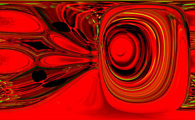 Red Whirls Abstract Art Print by Jeff Swan