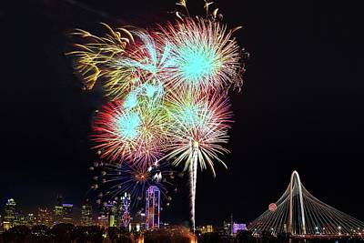 Photograph - Red White And Boom 2 Dallas 2017 by John Babis