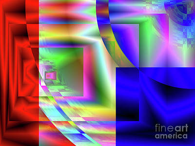 Digital Art - Red White And Blue 1 by Kristi Kruse