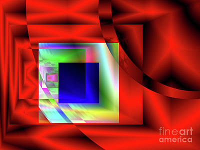 Digital Art - Red White And Blue 2 by Kristi Kruse