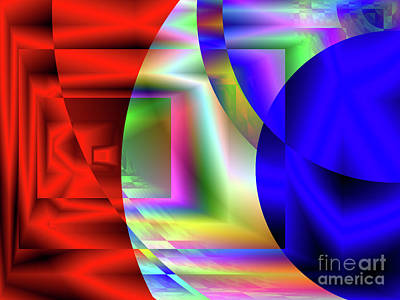 Digital Art - Red White And Blue 3 by Kristi Kruse