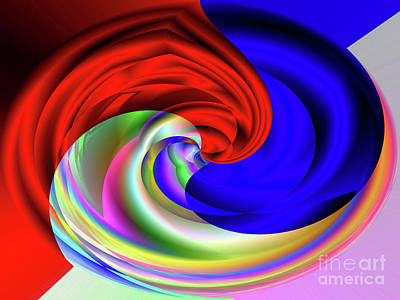 Digital Art - Red White And Blue 4 by Kristi Kruse