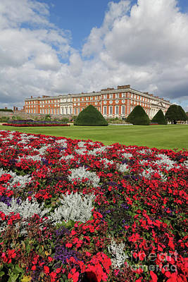 Red White And Blue At Hampton Court Art Print