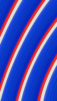 Photograph - Red White And Blue by Bill Owen