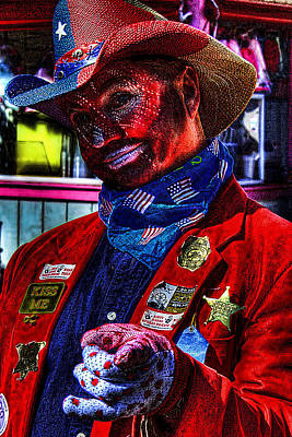 Red White And Blue Photograph - Red White And Blue Clown by David Patterson