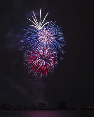 Photograph - Red White And Blue Display by Chris Thomas