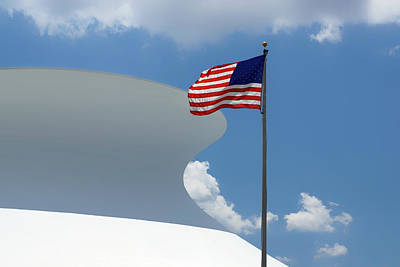Photograph - Red White And Blue - Mcdonnell Planetarium by Nikolyn McDonald