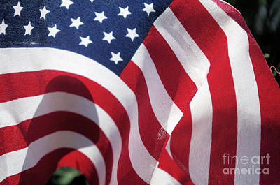 Photograph - Red White And Blue No 2 by John S