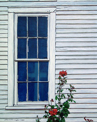 Peter Muzyka Wall Art - Painting - Red White And Blue by Peter Muzyka