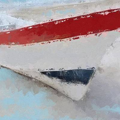 Beach House Digital Art - Red White And Blue Starboard  by Anthony Fishburne