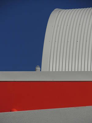Photograph -  Red White And Blue Urban Abstract 2 by Denise Clark