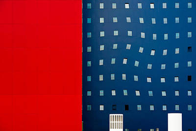 Abstracted Photograph - Red White And Blue by Wayne Pearson