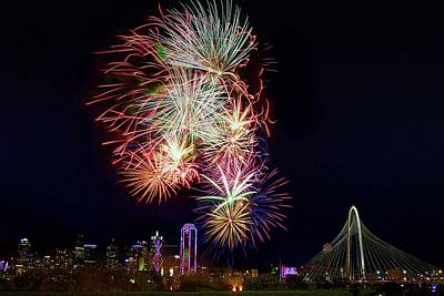 Photograph - Red White And  Boom 1 Dallas 2017 by John Babis