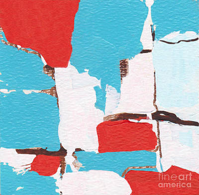 Painting - Red White Blue Abstract 31317 by Patricia Cleasby