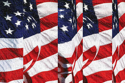Tapestry - Textile - Red White Blue - American Stars And Stripes by Peter Potter
