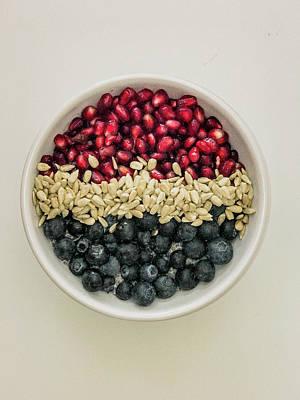 Photograph - Red White Blue Power Breakfast by Amyn Nasser
