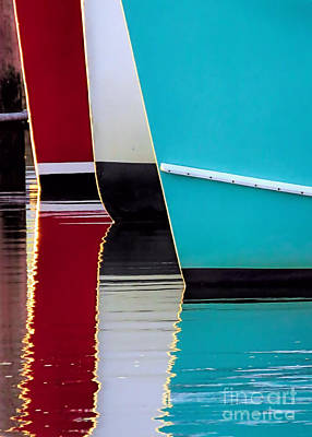 Photograph - Red White Blue Reflections by Janice Drew