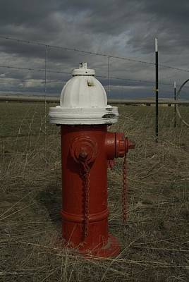 Photograph - Red  White Hydrant by Sara Stevenson