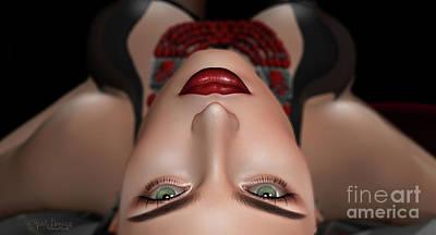 Digital Art - Red Window 1  by Georgina Hannay