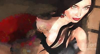 Digital Art - Red Window 5 C  by Georgina Hannay