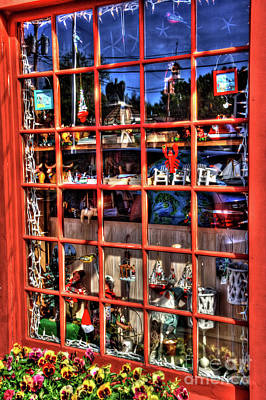 Photograph - Red Window by LaRoque Photography
