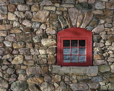 Photograph - Red Window by Brad Wenskoski