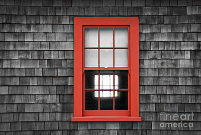 Photograph - Red Window Frame by Alice Cahill