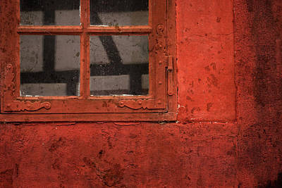 Photograph - Red Window by Inge Riis McDonald