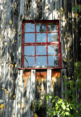 Art Print featuring the photograph The Red Window by Sandi OReilly