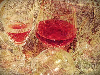 Featured Tapestry Designs - Red Wine 3 by Sarah Loft