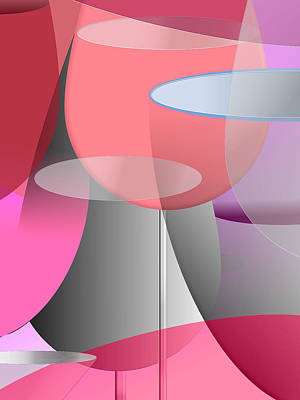 Wall Art - Digital Art - Red Wine Abstract by Digital Painting