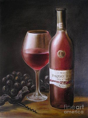 Italian Kitchen Painting - Red Wine by Birgit Moldenhauer