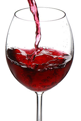 Wine Pour Photograph - Red Wine by Jaroslaw Grudzinski