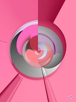 Wall Art - Digital Art - Red Wine Wheels by Digital Painting