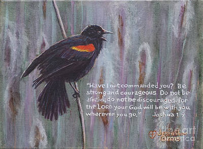 Painting - Red Wing Blackbird by LeRoy Jesfield