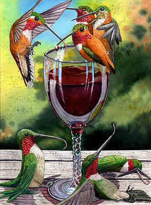 Rufous Wall Art - Painting - Red Winos by Catherine G McElroy