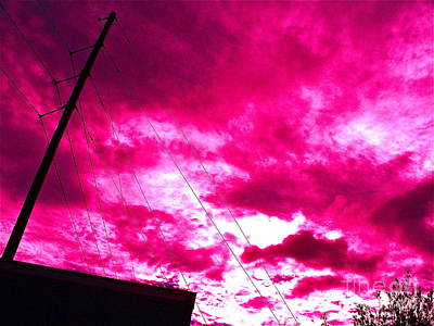 Red Wire Clouds Original by Chuck Taylor