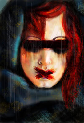 Red Witch Silenced Art Print