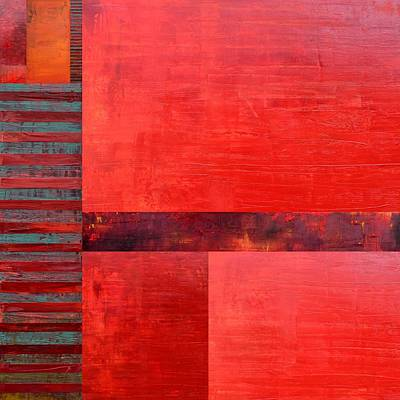 Graphic Painting - Red With Orange 2.0 by Michelle Calkins