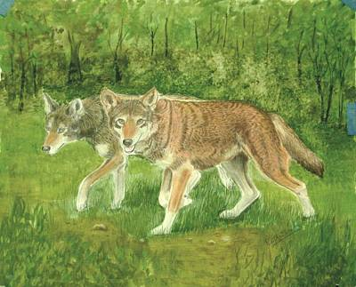 Painting - Red Wolves by Ruth Seal