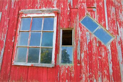 Photograph - Red Wood And Windows by Alice Gipson