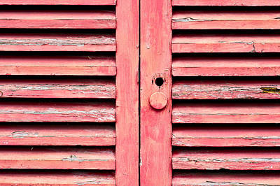 Messy Photograph - Red Wooden Door by Tom Gowanlock