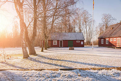 Photograph - Red Wooden Farm Buildings by Sophie McAulay