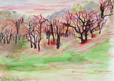 Painting - Red Woods by Lucinda  Hansen
