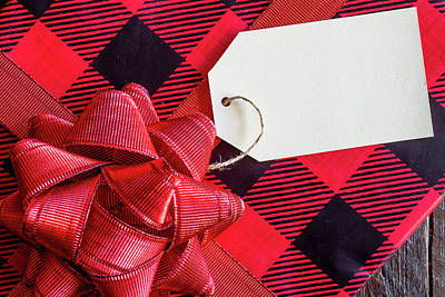 Photograph - Red Wrapped Christmas Presents by Teri Virbickis